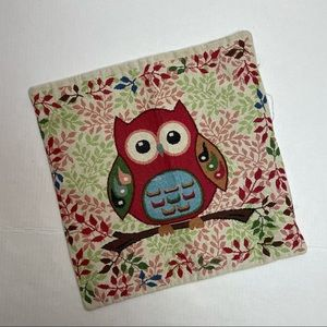 Throw pillow cover colorful Owl design